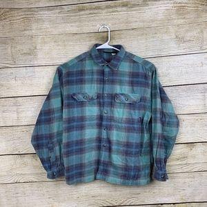 Patagonia Men's Long Sleeve Plaid Flannel Shirt M